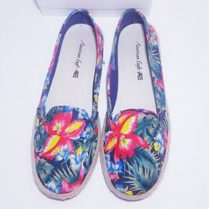 Tropical Espadrilles Loafers Slip On Shoes 8.5